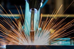 Close Up Torch Body Of Robot Welding