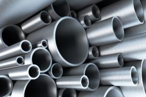 Stack Of Steel Tubing 3D Rendering