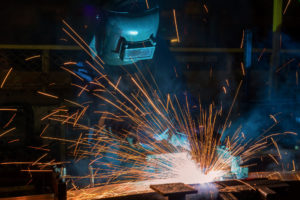 Worker Welding Assembly Automotive Part Incar Factory